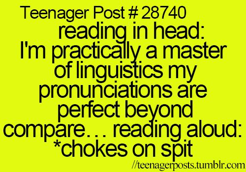 Yes. I can read fluently but when I have to under pressure I stutter and forget my English