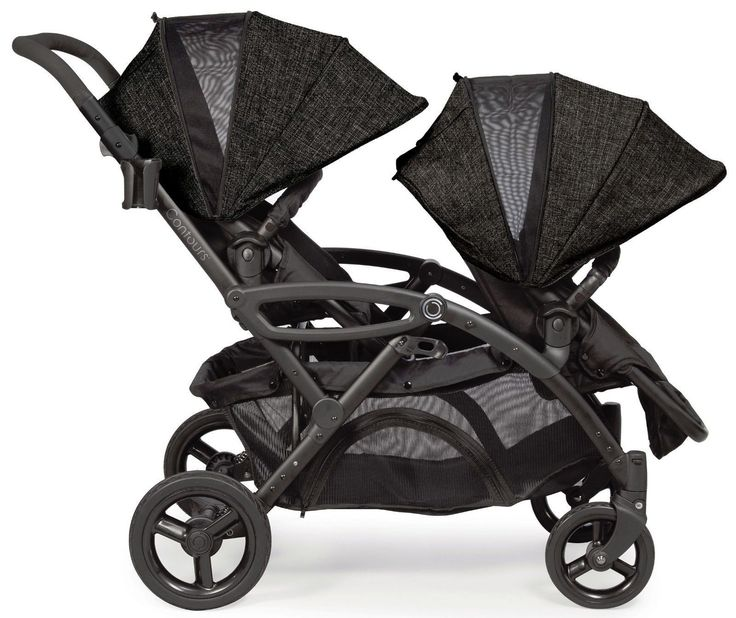 Contours Options Elite Twin Tandem Baby Double Stroller Carbon