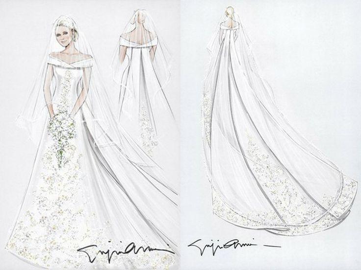 Esquisse et croquis robe de mari e giorgio armani pour for Giorgio armani wedding dress