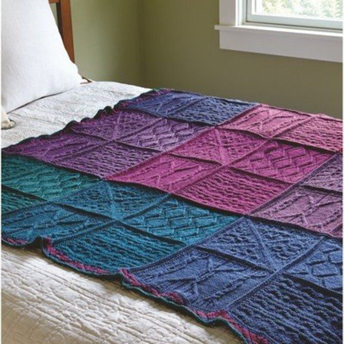 100 Best Knitted Blanket Patterns Images On Pinterest Knitted