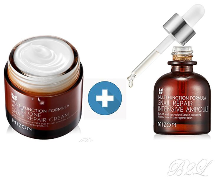 [MIZON] All In One Snail Repair Cream 75ml + Snail Repair Intensive Ampoule 30ml #Mizon