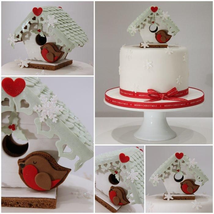 Beach Hut Gingerbread Christmas Cake - Cake by TiersandTiaras