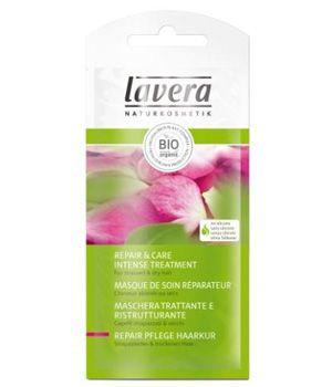 Lavera Masque de soin réparateur Rose bio Complexe 4 plantes Kératine sachet 20ml