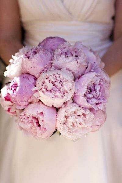 Peony bouquet.  Simple yet beautiful with wonderful scent!