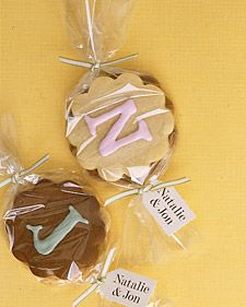 Cookie Favors Favors And Martha Stewart Weddings On Pinterest