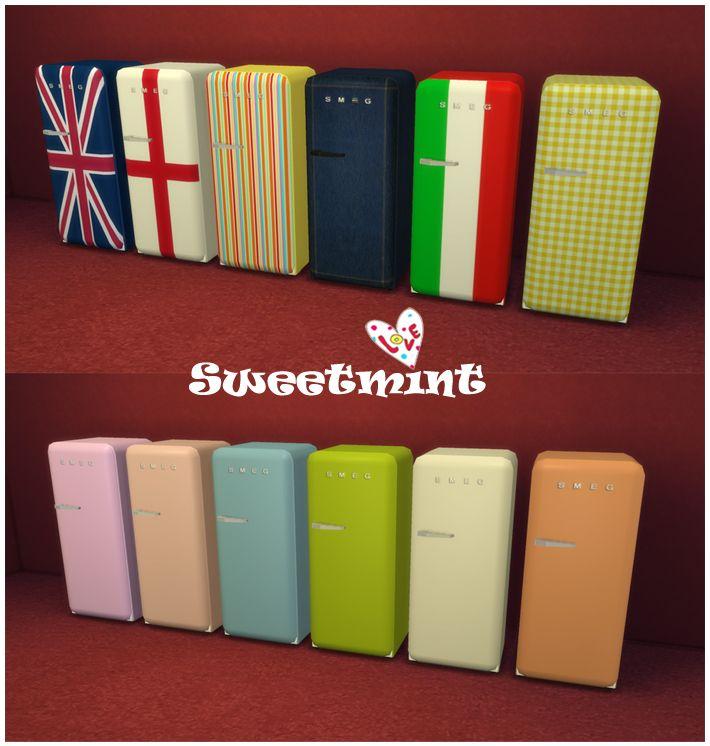Sweetmint Sims4 - SMEG fridge   The sims 4 - cc   Pinterest   Smeg ...
