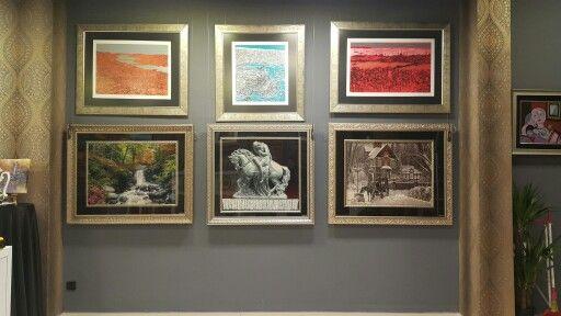 Serigrafi baskı (Devrim Erbil) İpekli El Dokuma halı Tablolarımızdan bir kaç örnek