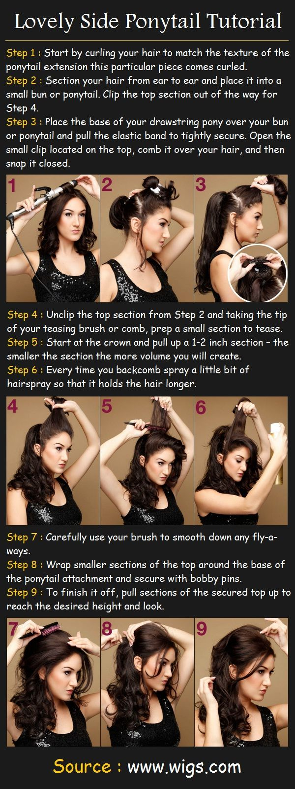 Lovely Side Ponytail Tutorial | Pinterest Tutorials