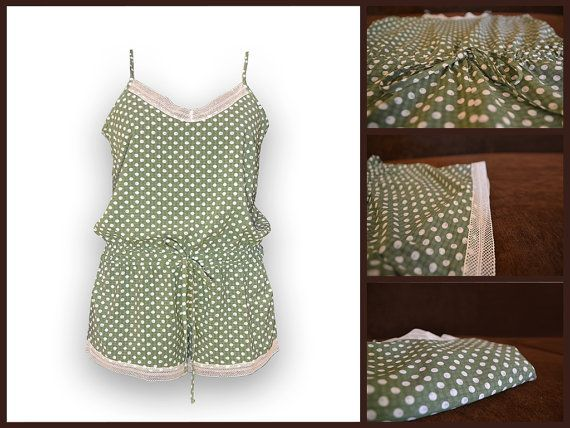 MildDream Pajamas Set In Green Color With Dots by MildDream
