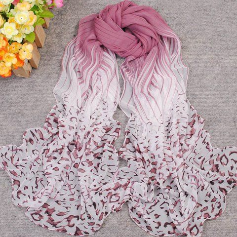 New Gradient Color Irregular Print Anti-UV Scarf For Women // PS: more colors available