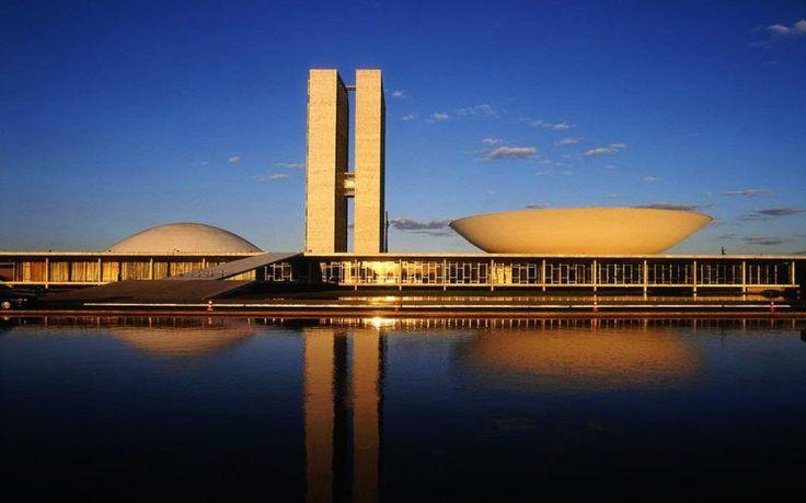 Palácio do Congresso Nacional, Brasília, DF, Brasil - Oscar Niemeyer