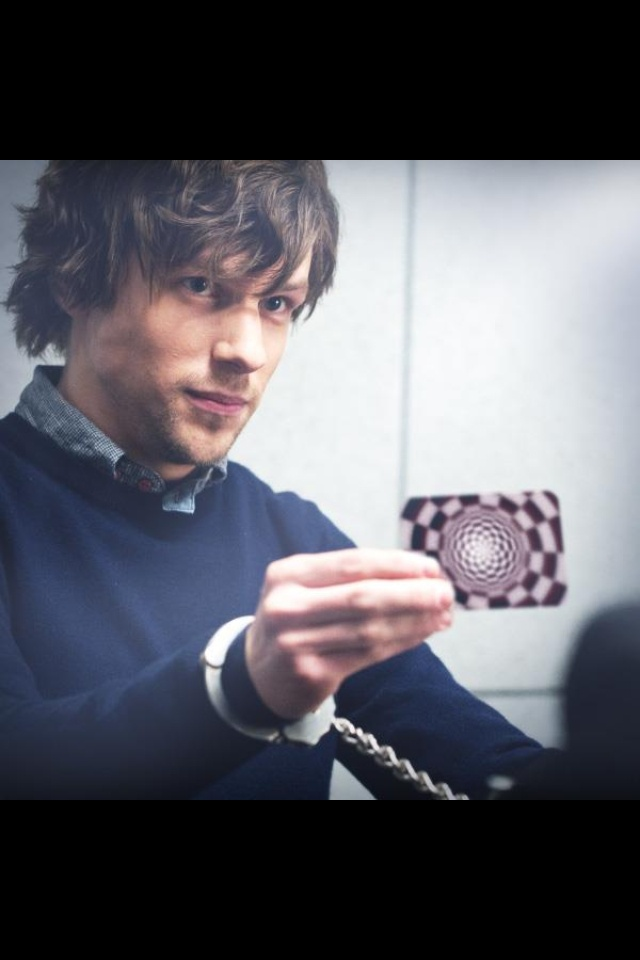 Jesse Eisenberg ok absolutely loved now you see  me great movie