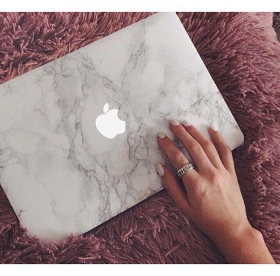 Macbook Marmor Skin, weißer Marmor, Macbook Stick…
