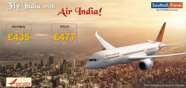 SouthallTravel introduces incredible discounts on Air India flights. Now save as you fly to the various cities and towns of the ever vivacious and vibrant India. Come, undertake a journey today! http://www.southalltravel.co.uk/india/