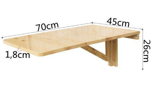 Sobuy fwt04 w table murale rabattables table de cuisine for Table pliable murale