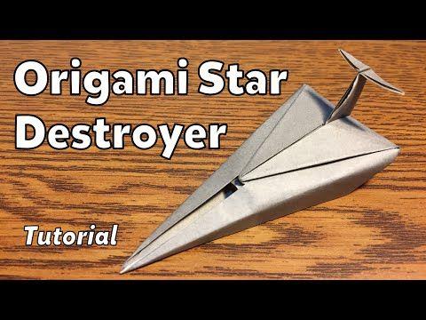 Origami Imperial Star Destroyer (Star Wars) | Tutorial - YouTube