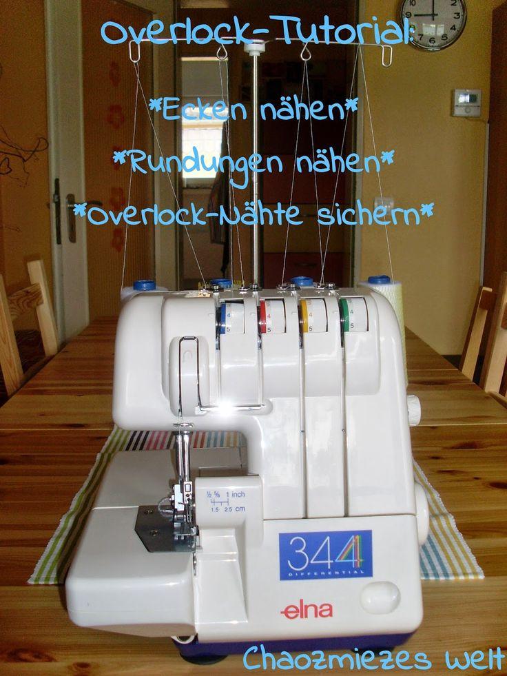 Overlock-Tutorial: Ecken und Rundungen mit der Overlock nähen und Overlock-Nähte…