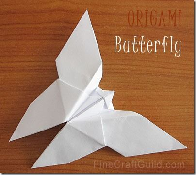 How to Make an Origami Butterfly = simple party decor