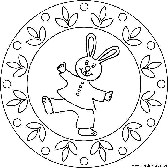 ausmalbilder mandala osterhase 01  mandalas para niños