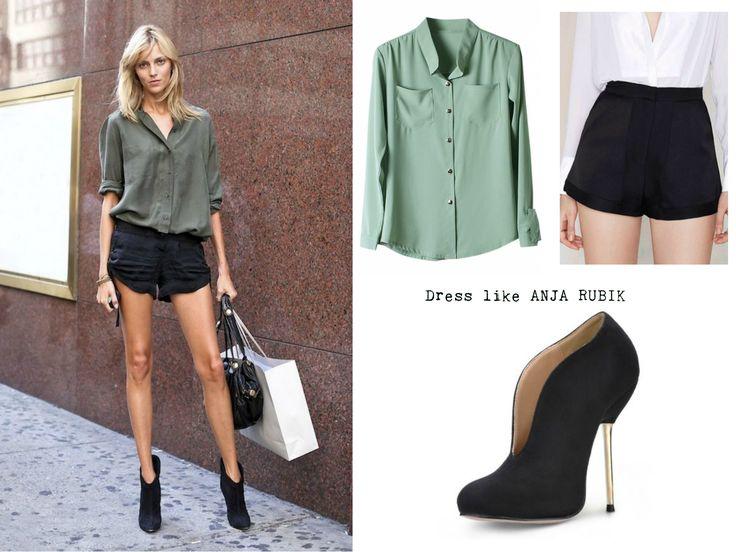 Dress like x http://nthgtowear.tumblr.com/ Anja Rubik
