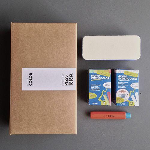 kit de accesorios para pizarra - tizas, borrador de latex y portatizas. 24,30€ #tizas #borrador #portatizas