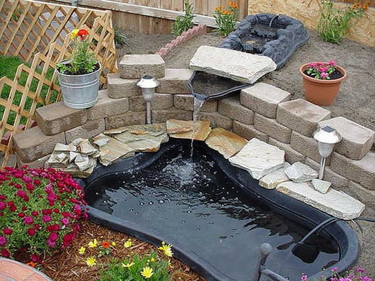 you can create beautiful looking ponds in your garden areas and backyards amazing ideas presented online can be used to get inspired for the job do