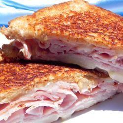 "Christy's Awesome Hot Ham and Cheese | ""Who would think you would need a recipe for a grilled ham and cheese? Well, this recipe is perfect!"""