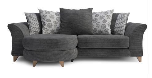 4 Seater Pillow Back Lounger Sundae | DFS