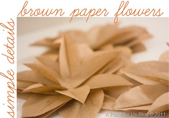 Brown Paper Bag flowers- they turn out beautifully! Thanks for sharing Just Destiny!