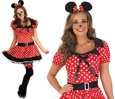 #Ladies red missy mouse fancy #dress #costume minnie disney outfit womens uk 8-30, View more on the LINK: http://www.zeppy.io/product/gb/2/272169853758/