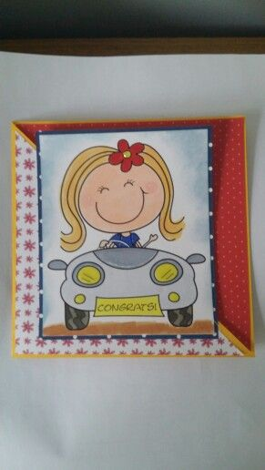 Congratulations card to my daughter for passing her driver's licence