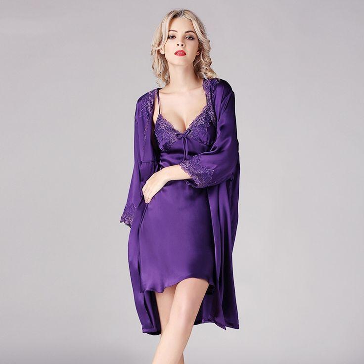 Mejores 21 imágenes de Silk Robes for Women en Pinterest | Batas de ...
