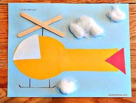H Is For Helicopter Preschool Craft Fine Motor Transporte