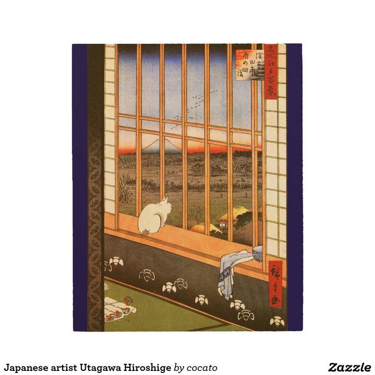 Japanese artist Utagawa Hiroshige ウッドウォールアート