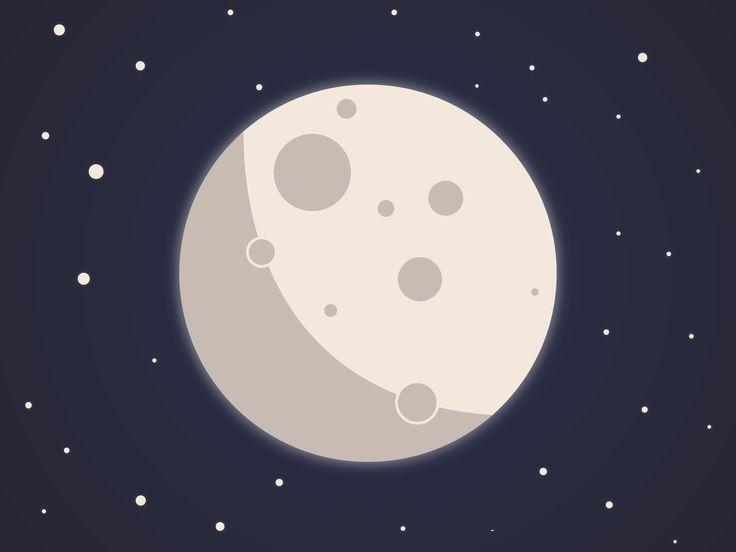 The Moon vector design minimal | Vector design, Graphic ...