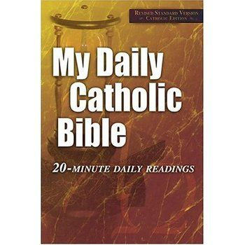 My Daily Catholic Bible: 20 Minute Daily Readings, Revised Standard Version  By Paul Thigpen Ever read the entire Bible? You can now. Here's the Bible that shows you how. There's never been an easier way to read the Bible. You don't have to start on January 1st. Begin reading on any calendar date and twelve months later you'll have made your way through all seventy-three books of the biblical canon. And a place for a check mark next to each entry makes it simple to keep track of your ...