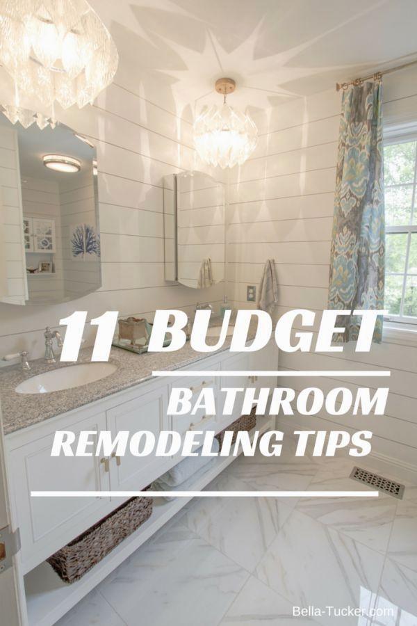 Bathroom Remodeling On A Budget Bella Tucker Budget Bathroom Remodel Budget Remodel Bathrooms Remodel