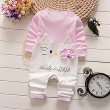 Roupa das meninas bonito Dos Desenhos Animados meninas Recém-nascidas do bebê Manga Comprida Macacão de bebê Meninos Roupas de bebê roupas de bebe infantil trajes(China (Mainland))