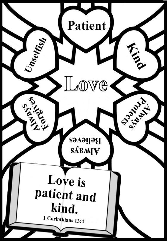 Love Is Patient Coloring Page Coloring Pages