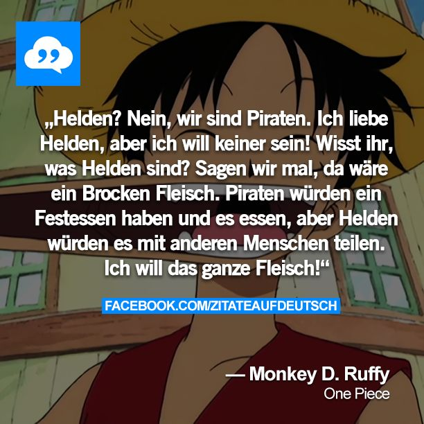 One Piece Hero quote in German