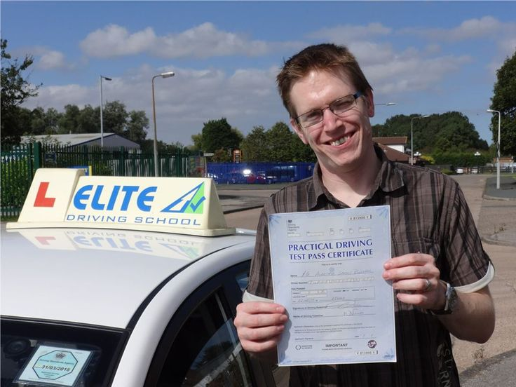 Congratulations to Alastair Burnell for passing his driving test on the 27th of  August 2014. Well done Alastair, although we didn't have that many lessons together, I'm absolutely delighted with the result.  All the best and here's to many years of safe, happy driving from driving instructor Alan Hardy and the Team at Elite Driving School.