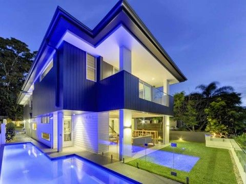 colores-fachada-Architects, Luxury Villas, Villas Design, Brisbane Australia, Brisbane Villas, Modern Home, Architecture Design, Outdoor Pools, Amazing Architecture