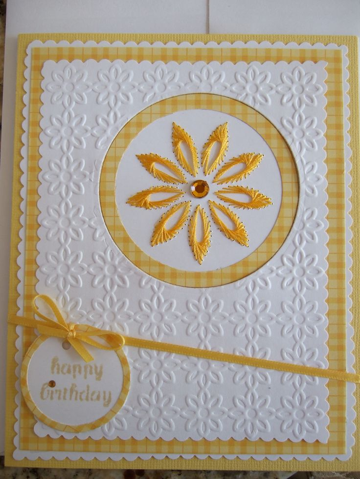 Book: Extraordinary Embroidery on Paper   By Erica Fortgens   Page 26   Pattern F1   Embossing Folder Cuttle Bug With Gratitude   Thread Sulky