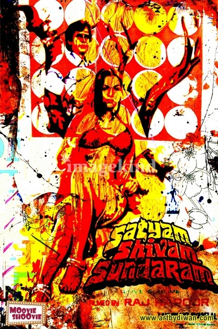 Love this version of the vintage bollywood poster for Satyam, Shivam, Sundaram
