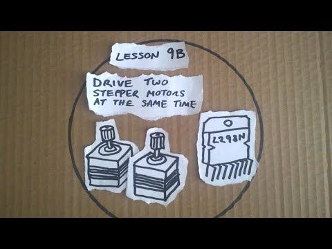 Lesson 9B - Arduino Quick Guide - Driving two stepper motors at the same time - YouTube