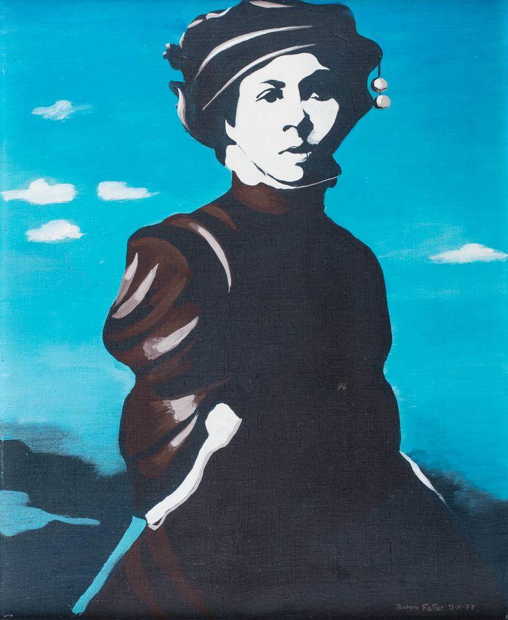 ANTONI FAŁAT (1942)  PIĘKNA POLKA, 1977   akryl, płótno / 61 x 50 cm  sygn. i dat. p.d.: Antoni Fałat 9.X.77