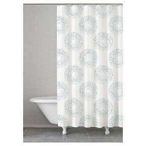 "Starburst Shower Curtain Grey/Multi-Colored (74""x74"") - Kassatex : Target"