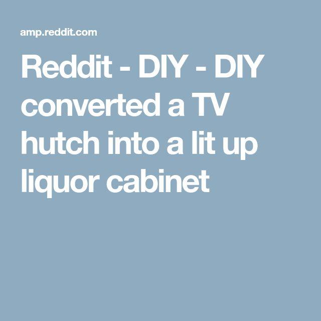 Reddit - DIY - DIY converted a TV hutch into a lit up liquor cabinet