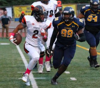 DE Dorian Gerald (6-3 250) of College of the Canyons JC, CA was an unknown quantity coming out of West Florence High School.  Despite his selection