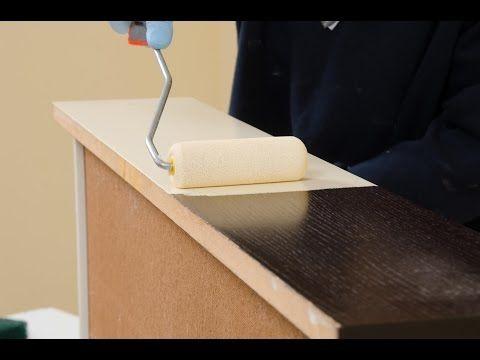 Verniciare i mobili dellla camera in legno, microlegno, impiallacciati, in laminato, formica - YouTube